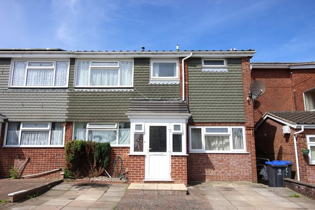 Thumbnail Semi-detached house for sale in Rownall View, Leek, Staffordshire