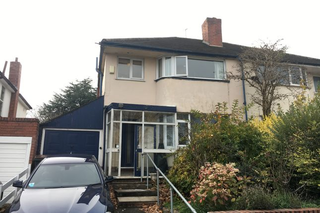 Thumbnail Semi-detached house to rent in West Avenue, Handsworth Wood, Birmingham