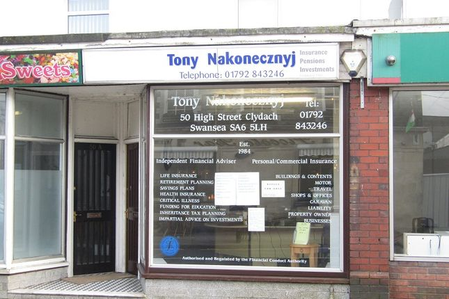 Thumbnail Retail premises for sale in High Street, Clydach, Swansea, City And County Of Swansea.