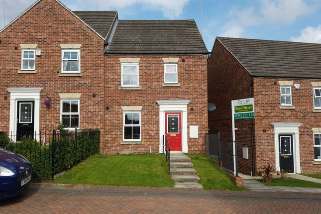 Thumbnail Semi-detached house to rent in Chester Court, Hemsworth