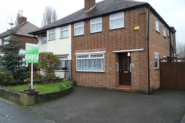 Thumbnail Semi-detached house to rent in Elmbridge Road, Perry Barr, Birmingham