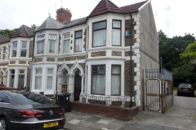 Thumbnail End terrace house for sale in Colum Place, Cathays, Cardiff