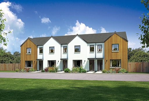 "Thumbnail Terraced house for sale in ""Argyll End"" at Whitehills Gardens, Cove, Aberdeen"