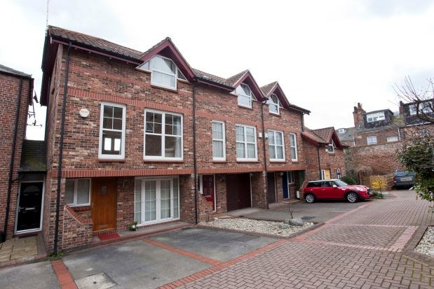 Thumbnail Town house to rent in Bishops Court, York