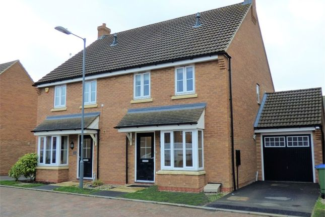 Thumbnail Semi-detached house for sale in Fletton End, Calvert, Buckingham