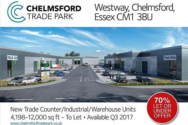 Thumbnail Light industrial to let in Chelmsford Trade Park, Westway, Chelmsford, Essex