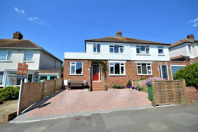 Thumbnail Semi-detached house for sale in Warren Way, Folkstone, Kent
