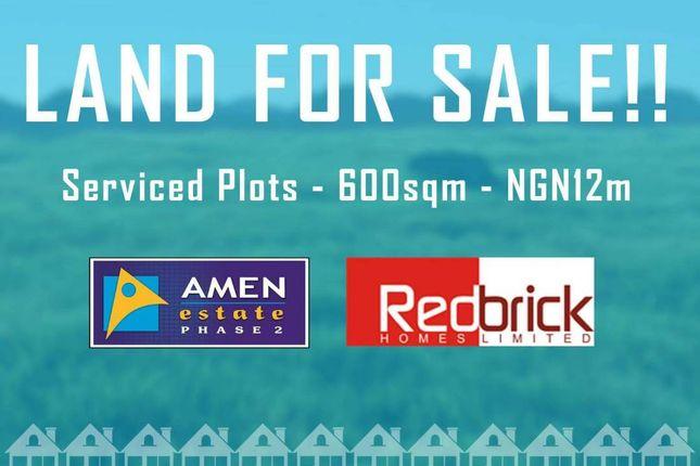 Thumbnail Land for sale in Amen Estate Phase 2, Eleko Beach Road, Ajah, Ibeju Lekki, Lagos