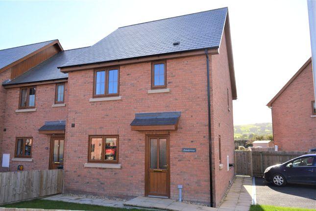 Thumbnail End terrace house to rent in Plas Trannon, Trefeglwys, Caersws, Powys