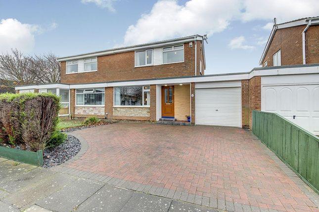 Thumbnail Semi-detached house for sale in Windermere Close, Cramlington