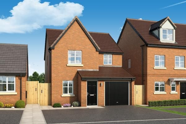 "Thumbnail Property for sale in ""The Staveley At The Woodlands"" at Newbury Road, Skelmersdale"
