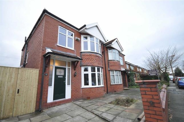 Thumbnail Semi-detached house to rent in Grosvenor Road, Heaton Moor, Stockport