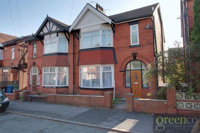 Thumbnail Semi-detached house to rent in Wilton Avenue, Prestwich, Manchester