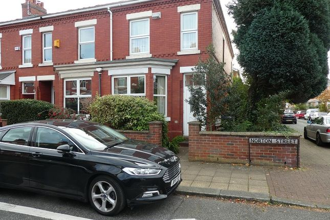 End terrace house for sale in Norton Street, Old Trafford, Manchester.