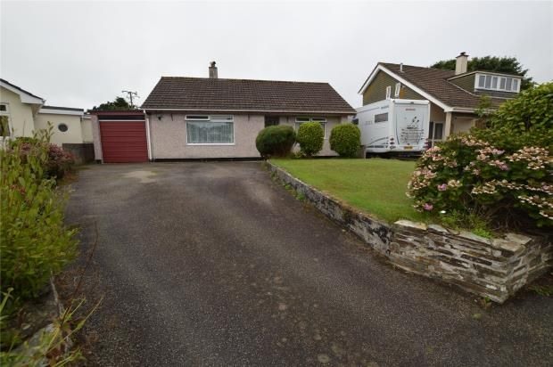 Thumbnail Detached bungalow for sale in Cober Crescent, Gwinear, Hayle, Cornwall