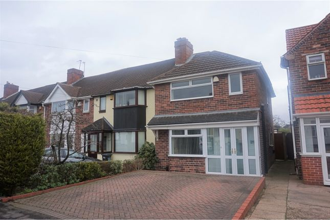 Thumbnail End terrace house for sale in Howard Road, Solihull