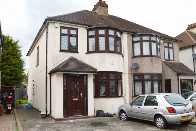 Semi-detached house for sale in Sussex Avenue, Harold Wood, Romford