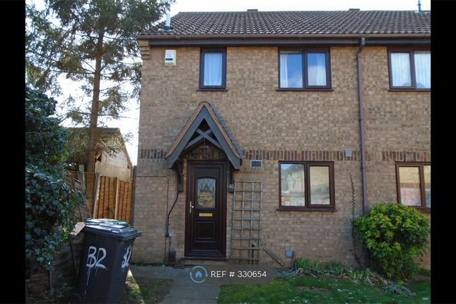 Thumbnail End terrace house to rent in Royal Oak Close, Biggleswade