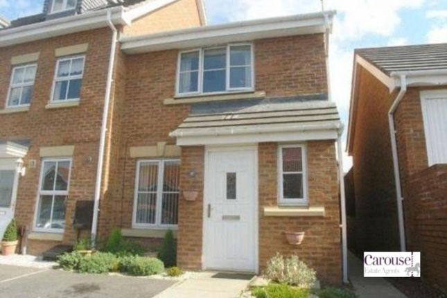 Thumbnail End terrace house for sale in Dunkeld Close, Gateshead