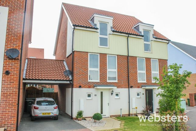 Semi-detached house for sale in Poethlyn Drive, Costessey, Norwich
