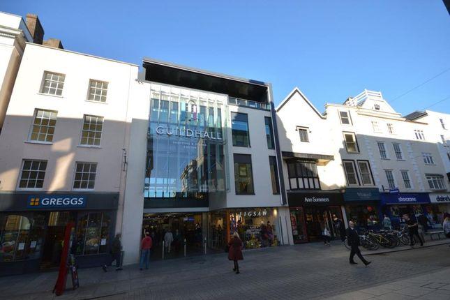Thumbnail Flat to rent in High Street, Exeter, Devon