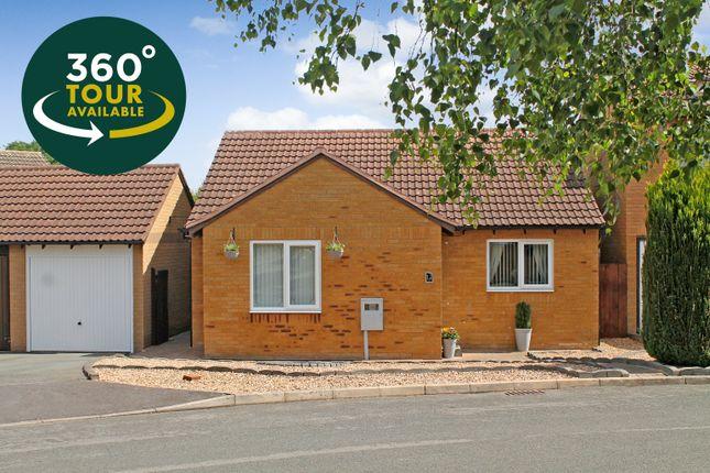 Thumbnail Detached bungalow for sale in Marmion Close, Fleckney, Leicester
