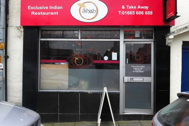 Thumbnail Restaurant/cafe for sale in Shab Indian Restaurant & Takeaway, 17-19 Clayport Street, Alnwick