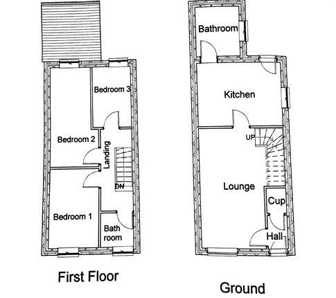 Thumbnail Land for sale in Edwards Terrace, Bedlinog, Treharris, Mid Glamorgan