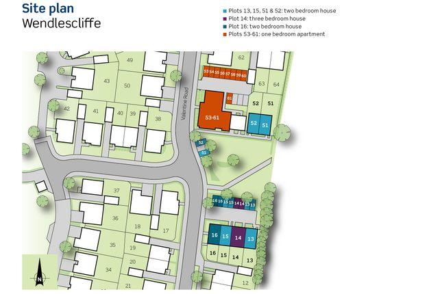 Siteplan of Plots 55, 58 & 61, Wendlescliffe, Evesham Road, Bishops Cleeve, Gloucestershire GL52