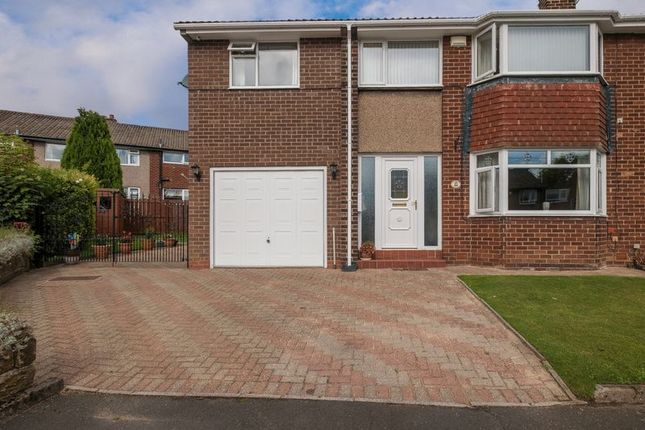 Thumbnail Semi-detached house for sale in Pont View, Ponteland, Newcastle Upon Tyne