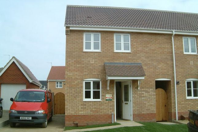Thumbnail End terrace house to rent in Underwood Close, Lowestoft