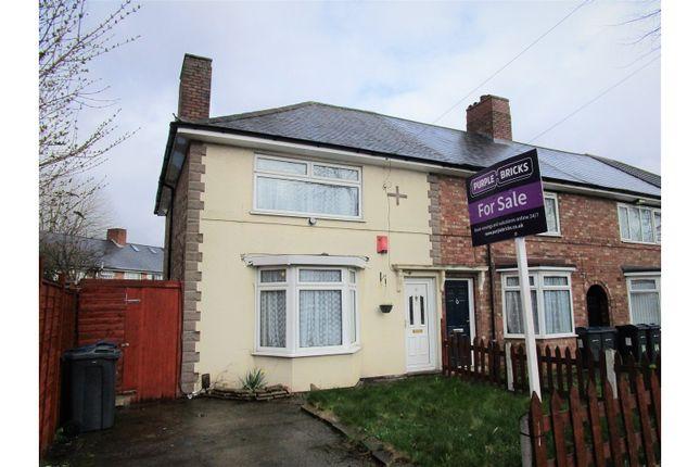 Thumbnail End terrace house for sale in Cotterills Lane, Birmingham