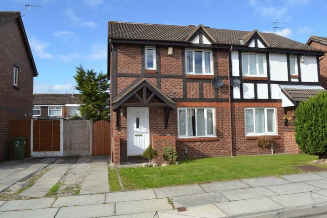 Thumbnail Semi-detached house to rent in The Fieldings, Lydiate, Liverpool