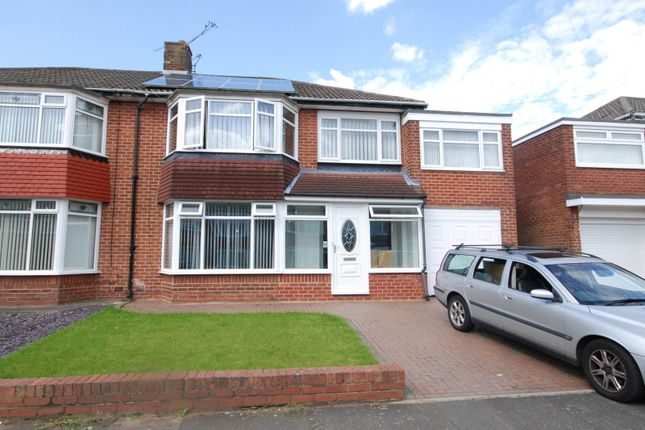 Thumbnail Semi-detached house to rent in Easedale Avenue, North Gosforth, Newcastle Upon Tyne