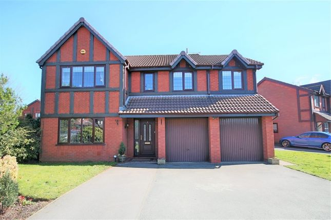 Thumbnail Detached house for sale in Hanwell Close, Leigh, Lancashire
