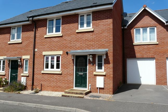 Thumbnail Semi-detached house to rent in Webbers Way, Tiverton