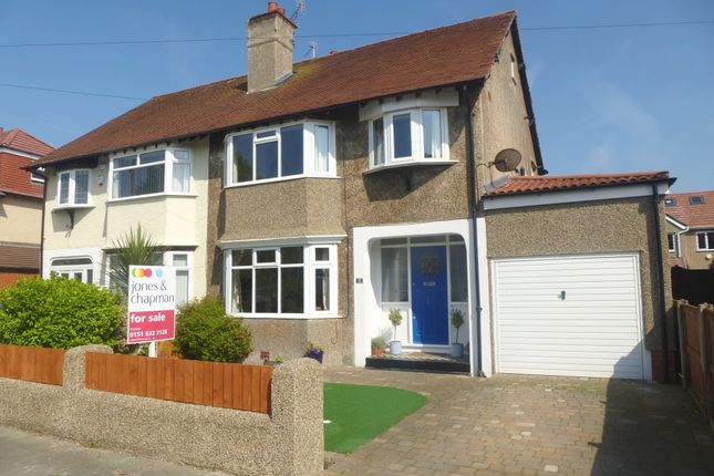 Thumbnail Semi-detached house for sale in Queens Avenue, Meols, Wirral