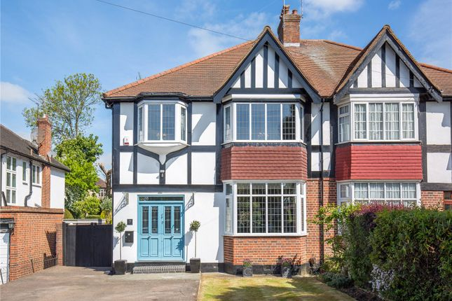 Thumbnail Semi-detached house for sale in Heddon Court Avenue, Cockfosters, Barnet, Hertfordshire
