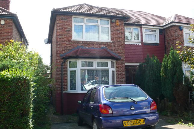 Thumbnail Semi-detached house to rent in Ashford Avenue, Hayes