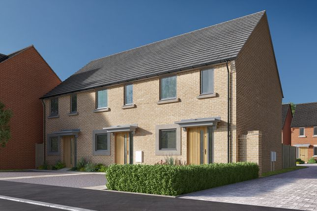 """Thumbnail Semi-detached house for sale in """"The Harcourt"""" at Heron Road, Northstowe, Cambridge"""