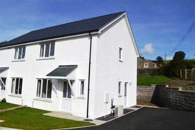 Thumbnail Semi-detached house for sale in New Build, Plot 3, Adj To Ty'r Ysgol, Lledrod, Aberystwyth, Ceredigion