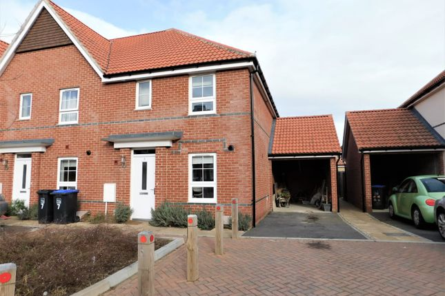 Thumbnail End terrace house for sale in Puttick Drive, Worthing