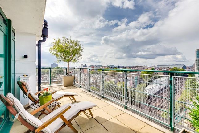 Balcony of Beckford Close, Kensington, London W14