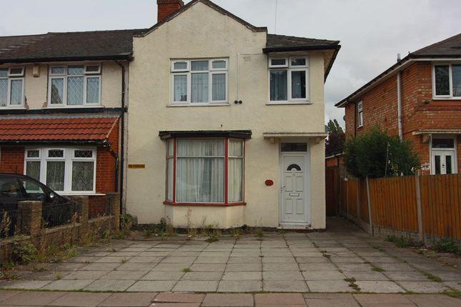 Thumbnail End terrace house for sale in Capcroft Road, Billesley, Birmingham