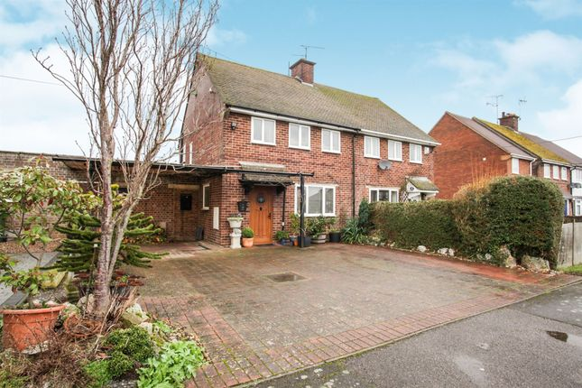 Thumbnail Semi-detached house for sale in Mill Road, Slapton, Leighton Buzzard