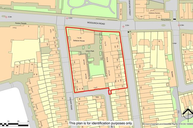 R137- Promap of Parking Space 91, Sailacre House Woolwich Road, Greenwich, London SE10