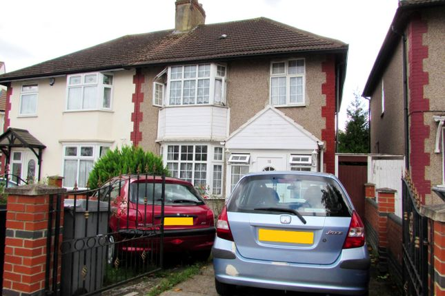 Thumbnail Semi-detached house to rent in St James Gardens, Wembley, Middlesex