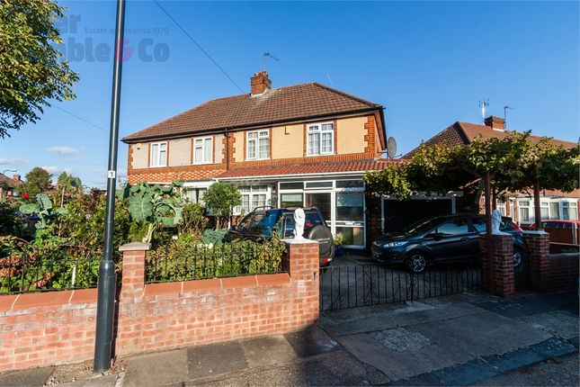 Thumbnail Semi-detached house for sale in Bamford Avenue, Wembley, Greater London
