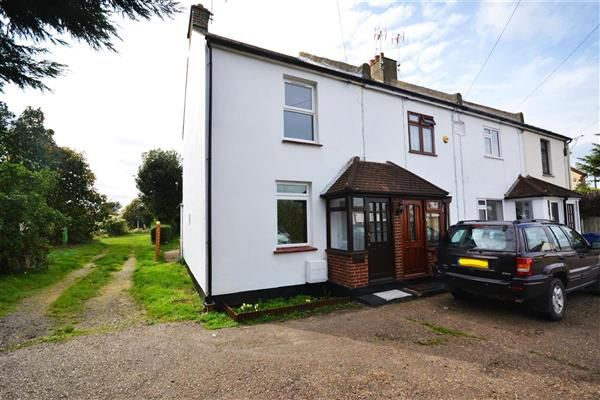 Thumbnail End terrace house to rent in Caxton Cottages, Sandy Lane, Chadwell St.Mary