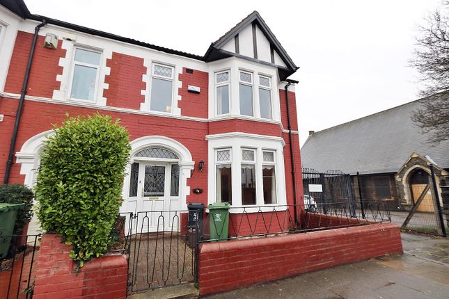 Thumbnail End terrace house for sale in Minster Road, Roath, Cardiff